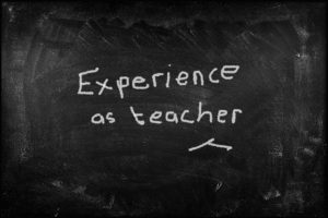 experience as teacher